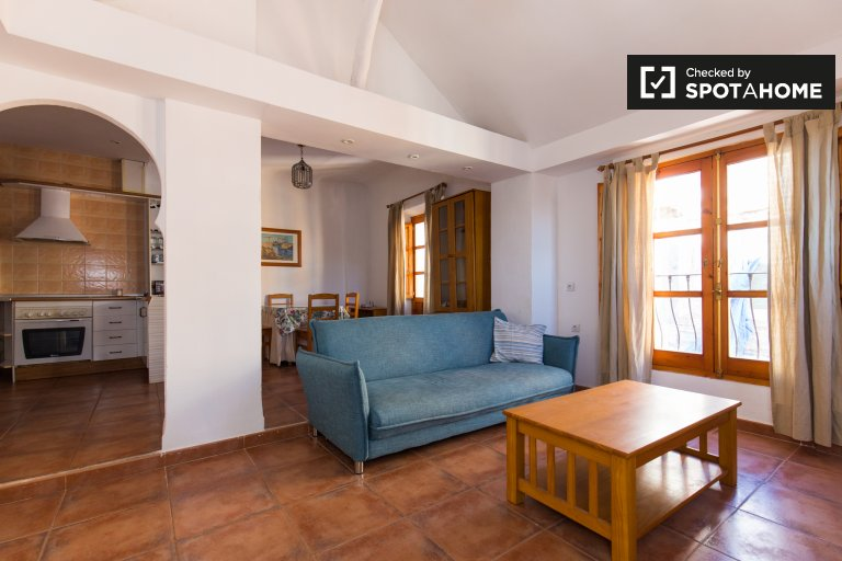 Charming 1-bedroom apartment with terrace for rent in Elvira