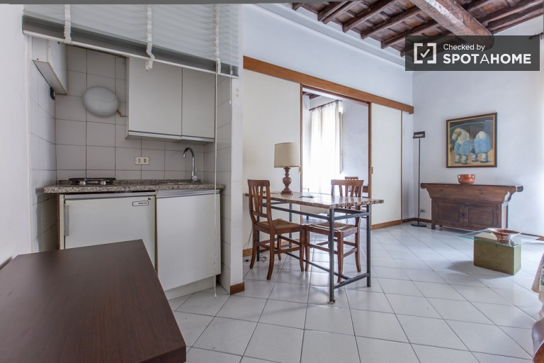 Cozy 1-bedroom apartment for rent in Centro Storico, close to the Fontana di Trevi