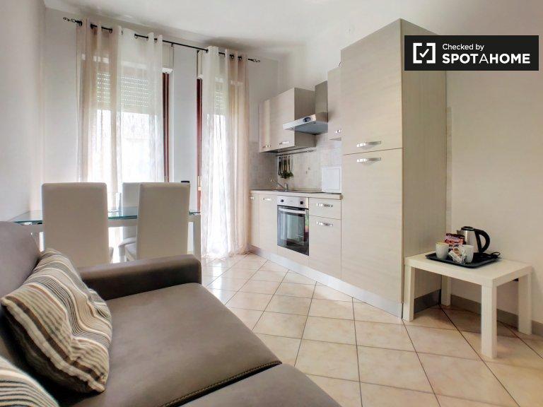 Apartamento de 1 quarto ensolarado para alugar em Cinisello Balsamo