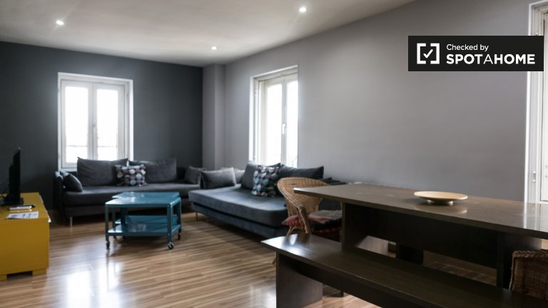 Schicke 3-Zimmer-Wohnung zur Miete in Centro, Madrid