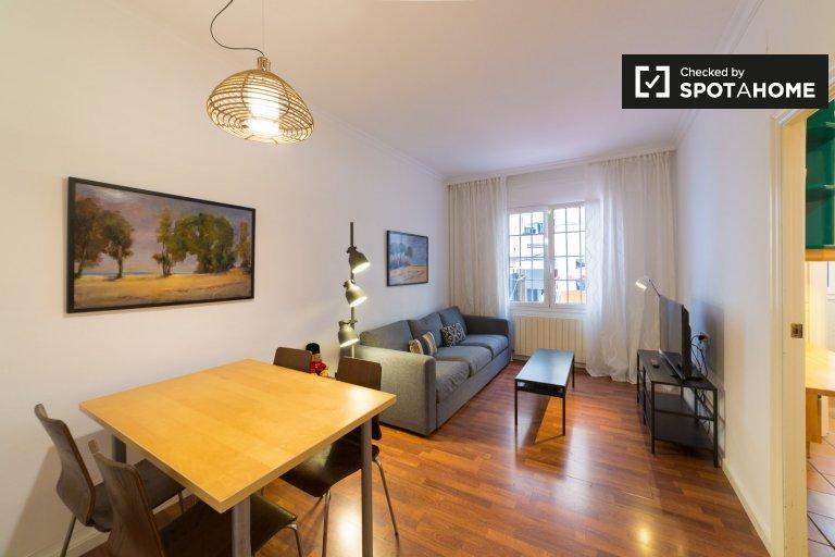 Grand appartement de 2 chambres à louer à El Raval, Barcelone