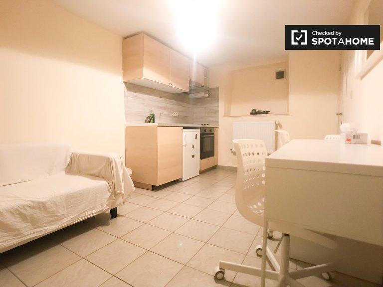 Przytulne 1-pokojowe mieszkanie do wynajęcia w Etterbeek, Bruksela