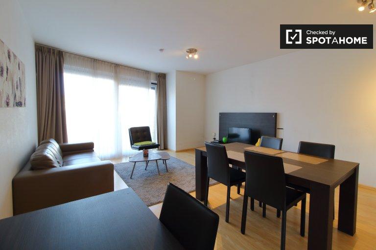 Nowoczesny apartament z 2 sypialniami do wynajęcia w centrum Brukseli