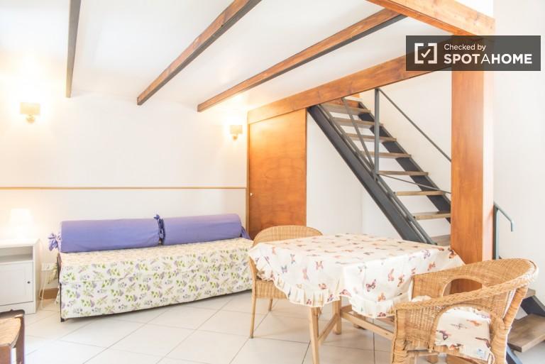 Duplex appartement 1 chambre à louer dans le centre-ville de Rome