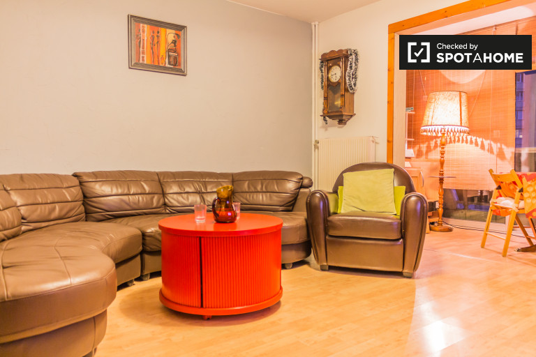 3-bedroom apartment with central heating for rent in Villeurbanne, professionals only