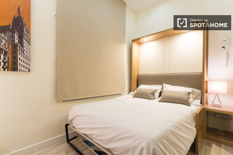 Modern studio with air conditioning in Callao, Madrid city centre