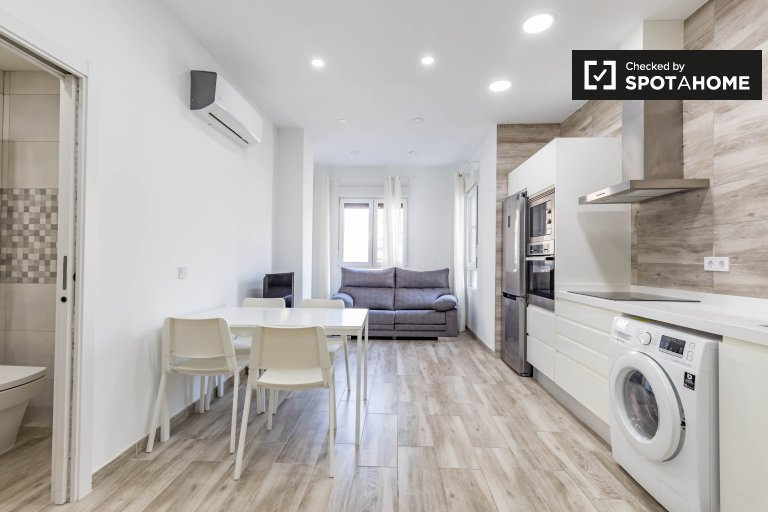 Apartamento de 1 quarto para alugar em Extramurs, Valência
