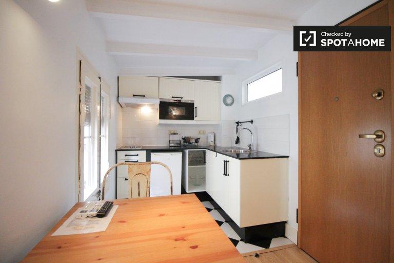 La Barceloneta, Barcelona'da kiralık güzel stüdyo daire