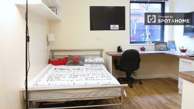 Single Bed in Ensuite Rooms for Students in Residence Hall in Vauxhall, Bills Included
