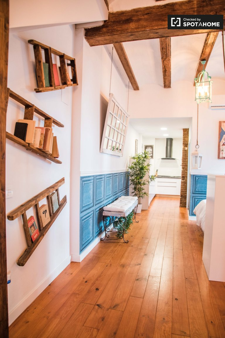 Cute studio apartment for rent in Poblats Marítims, Valencia