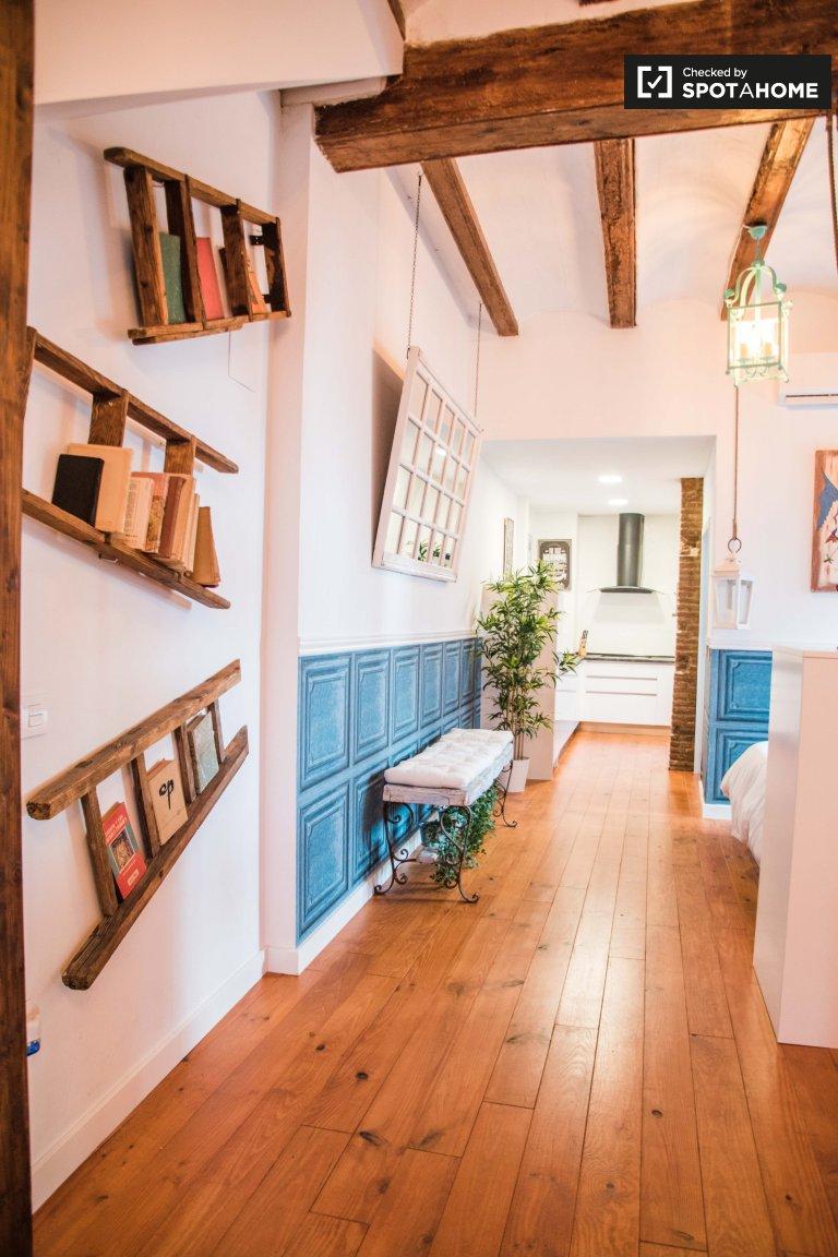 Joli studio à louer à Poblats Marítims, Valence