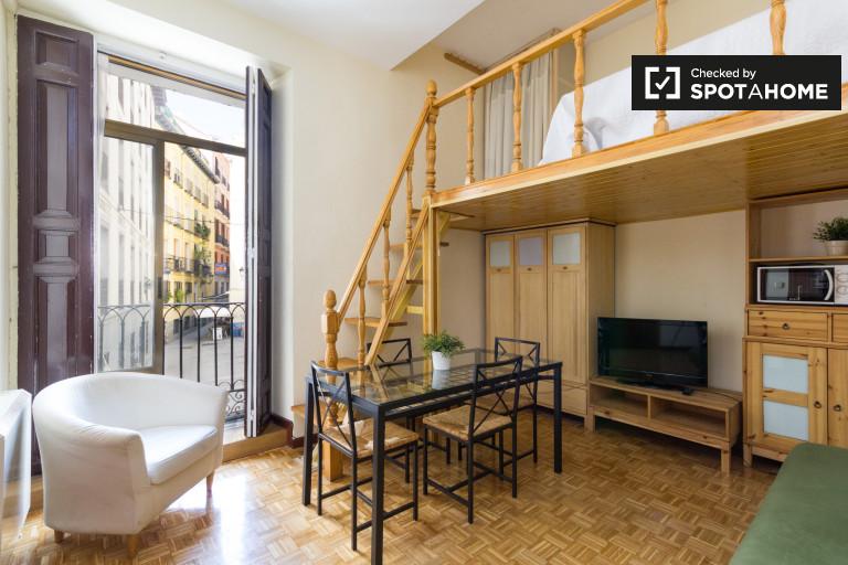 Studio Apartment With Mezzanine charming studio apartment for rent in malasaña, madrid | spotahome