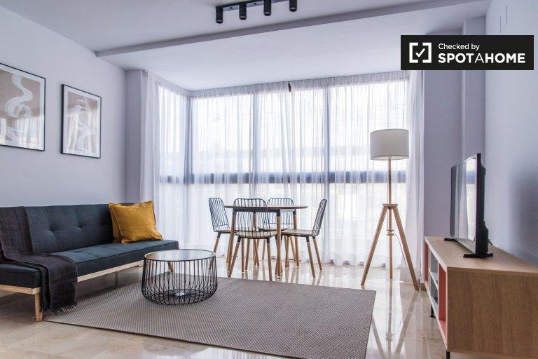 Elegante apartamento de 1 quarto para alugar em Patraix, Valência