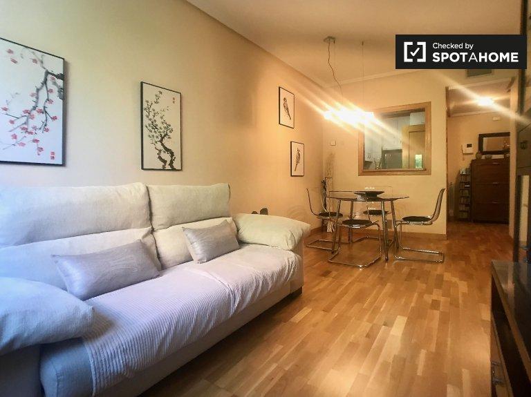Przytulne 1-pokojowe mieszkanie do wynajęcia w Retiro w Madrycie