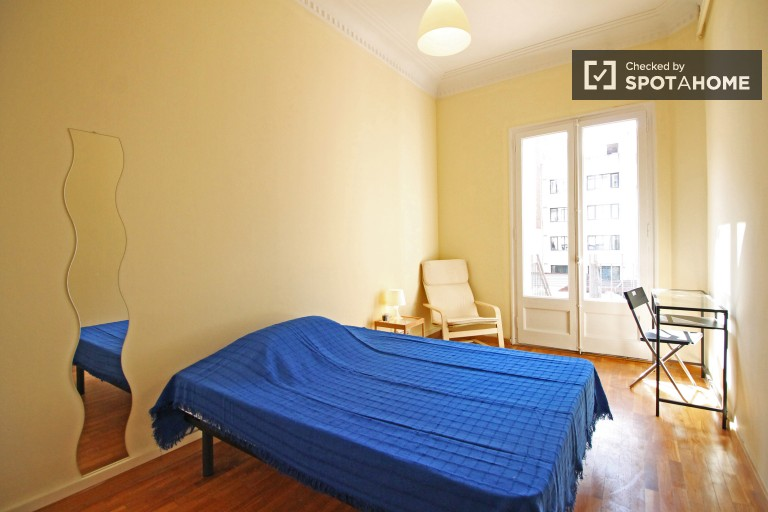 Bedroom 7 with Double Bed and Balcony