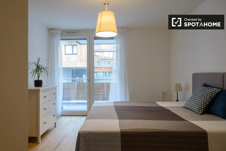 1-bedroom apartment with balcony for rent in the 22nd district