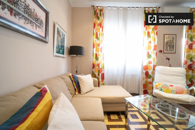 Colorful 2-bedroom apartment for rent in Moncloa, Madrid