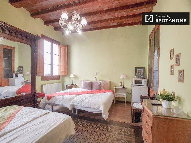 Chambre à louer dans un appartement de 5 chambres, Barri Gòtic, Barcelone