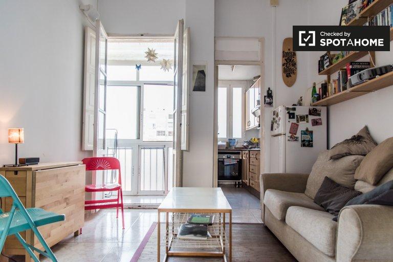Comodo appartamento con 1 camera da letto in affitto a Extramurs, Valencia