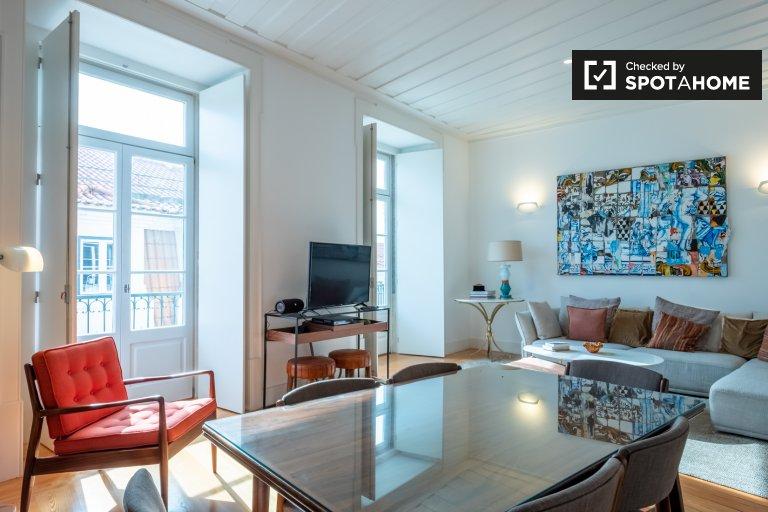 Appartamento con 2 camere da letto in affitto a Rossio e Restauradores