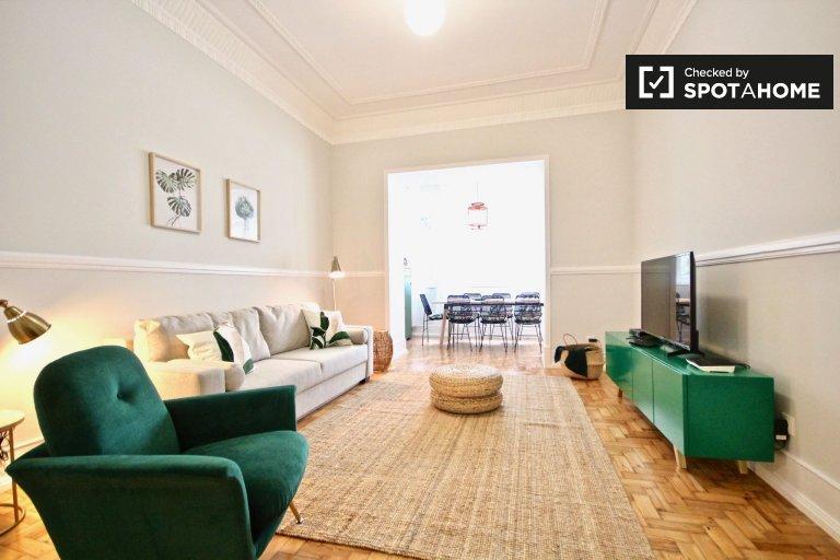 Appartamento con 3 camere da letto in affitto a Campolide, Lisbona