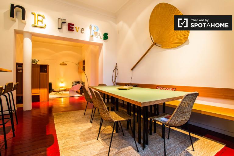 Stylowe 1-pokojowe mieszkanie do wynajęcia w Ixelles, Bruksela