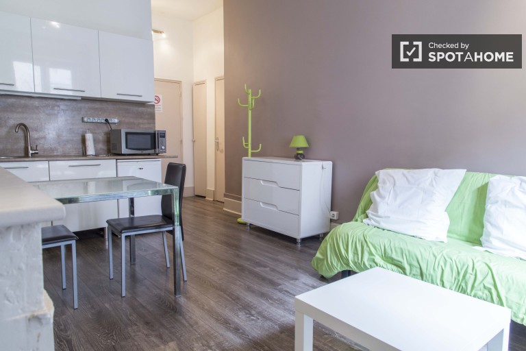 Bright Studio Apartment With Utilities Included for Rent in Villeurbanne