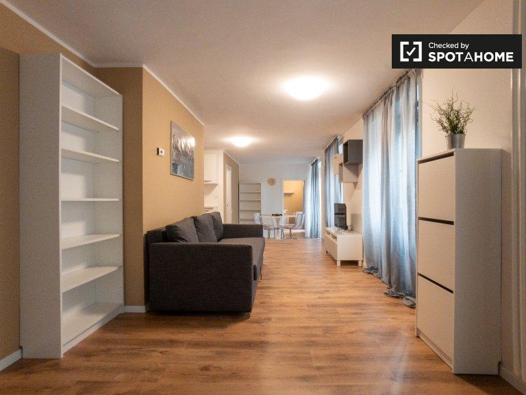 Apartamento de 1 quarto moderno para alugar em San Siro, Milão