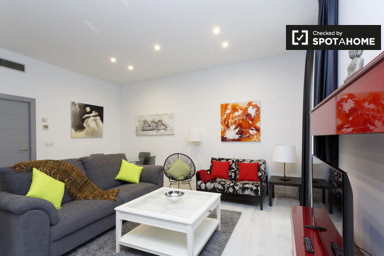Modern 1 Bedroom Apartment For Rent In Madrid City Centre