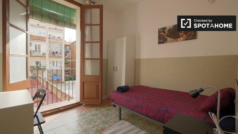Zimmer zur Miete in einer 4-Zimmer-Wohnung in El Raval, Barcelona