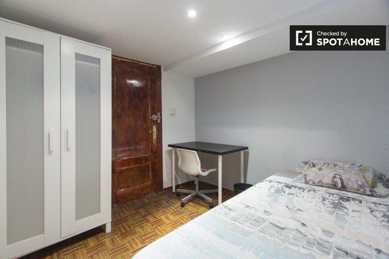 Chambre simple à louer, appartement de 4 chambres, Lavapiés, Madrid