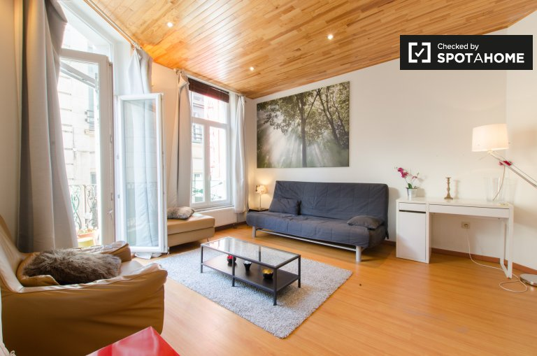 Bright studio apartment for rent in Brussels City Centre