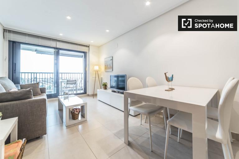 Apartamento de 1 quarto para alugar em La Patacona, Valência