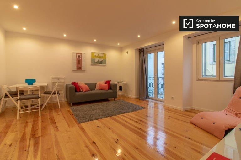Bairro Alto, Lisboa kiralık geniş 1 yatak odalı daire