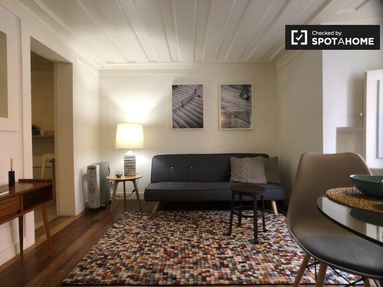 1-Zimmer-Wohnung zur Miete in Misericórdia, Lissabon