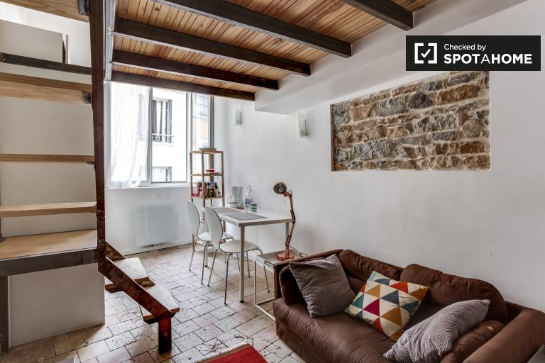 Gemütliche Studio-Wohnung zur Miete in Croix-Rousse, Lyon 1