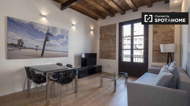 Elegancki 2-pokojowy apartament do wynajęcia w El Raval, Barcelona