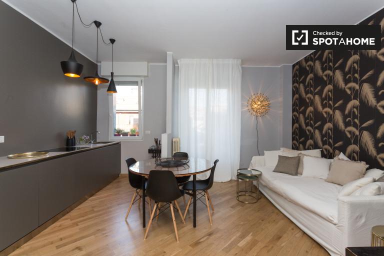 Apartamento de 1 dormitorio con balcón en alquiler en Forlanini, Milán