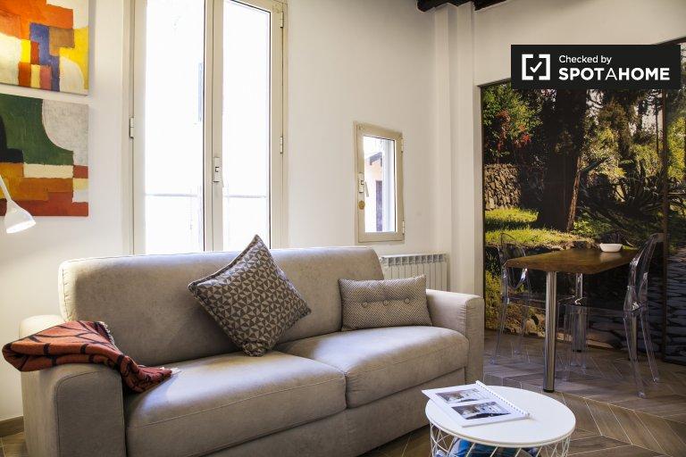 Renovado apartamento de 1 quarto para alugar Centro Storico Roma