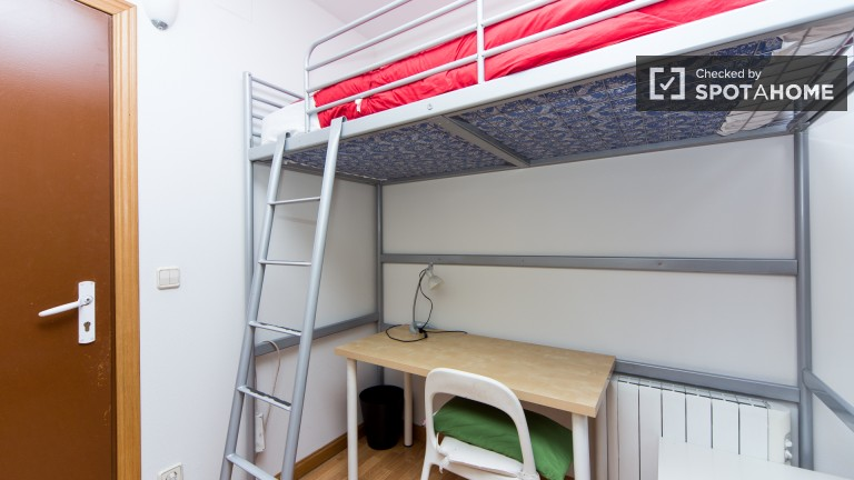 Exterior single room with private balcony