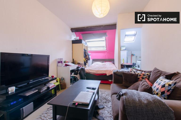 Semi-independent studio for rent, Ixelles, Brussels
