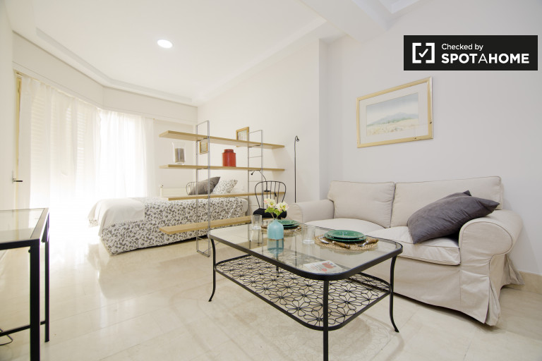 Elegant studio with double bed for rent in Salamanca