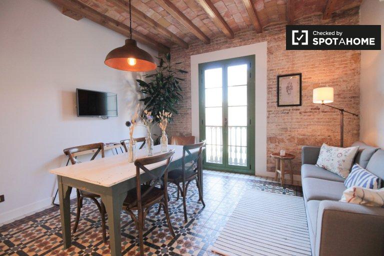 Niesamowite 2-pokojowe mieszkanie do wynajęcia w Barri Gotic