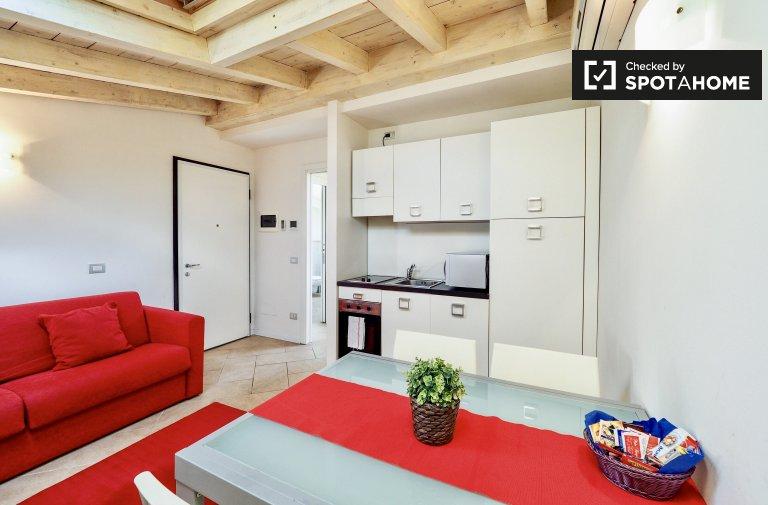 Apartamento de 1 quarto moderno para alugar em Bovisa, Milão