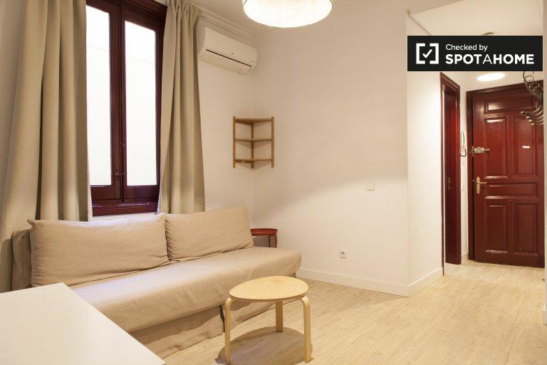 Centro, Madrid'de kiralık 1 yatak odalı daire