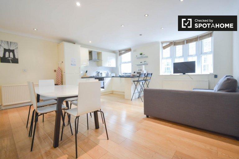 Elegante apartamento com 3 quartos para alugar em Hammersmith, Londres