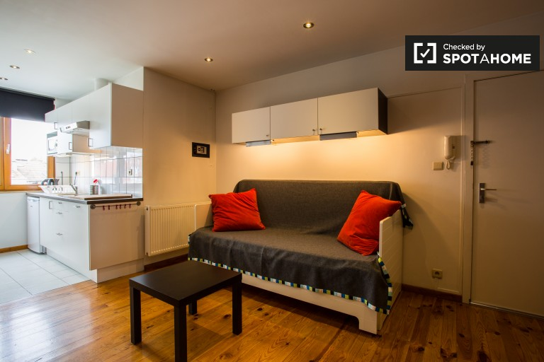 Contemporary studio apartment for rent in Jette, Brussels