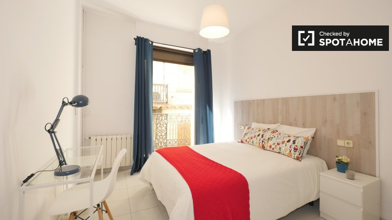 Stylish room for rent in 5-bedroom apartment, Barri Gòtic