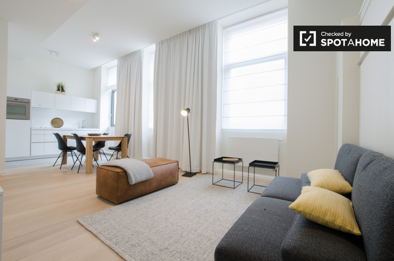 Brand-new studio apartment for rent in Ixelles, Brussels