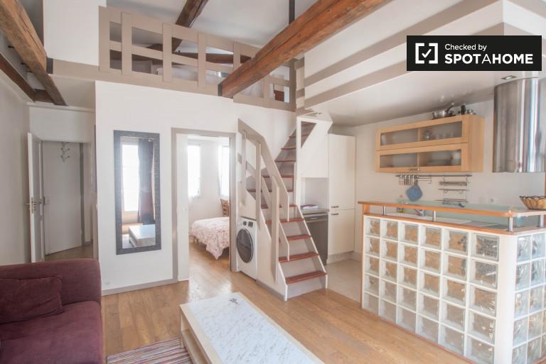 Elegant 2-bedroom apartment with mezzanine for rent in 12th arrondissement, in Bastille
